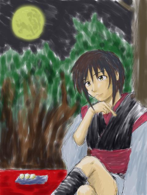 月見団子と丹ちゃん